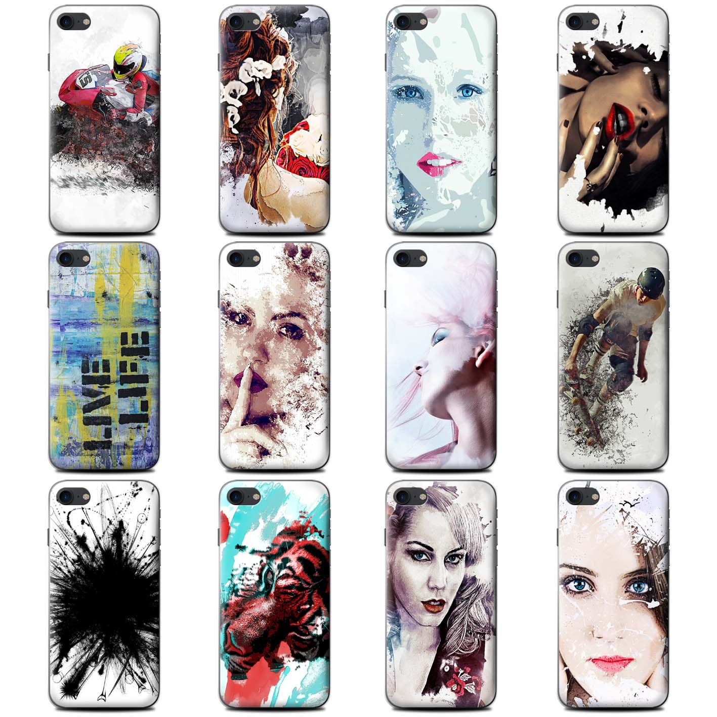 STUFF4-Coque-Etui-Gel-TPU-pour-LG-G-Smartphone-Fragments-Protection-Housse