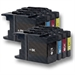8 Compatible LC1240 / LC1280 Ink Cartridges for Brother Printers Black + Colour