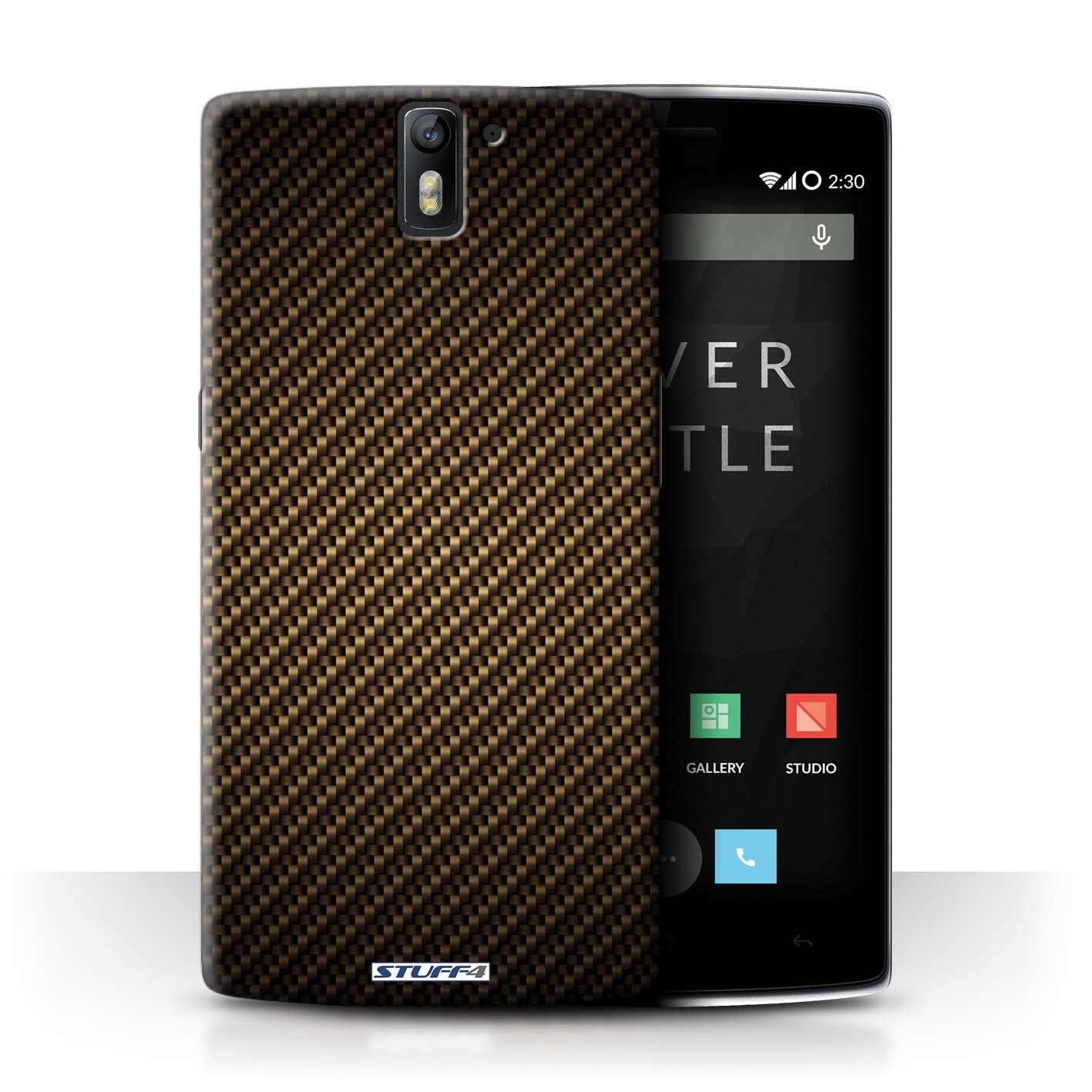 STUFF4-Coque-Etui-pour-OnePlus-Smartphone-Motif-de-Fibre-de-Carbone-Housse