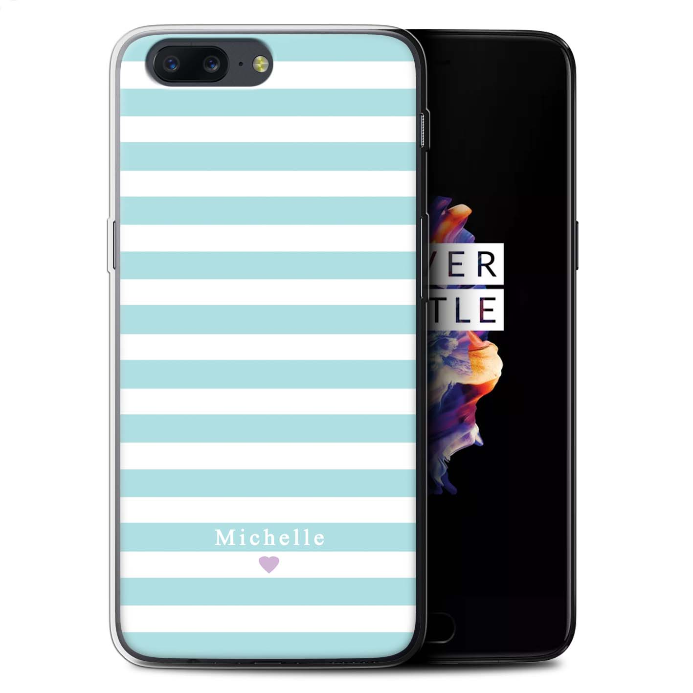 Personalised-Custom-Stripes-Striped-Case-for-OnePlus-5-Initial-Gel-TPU-DIY-Cover
