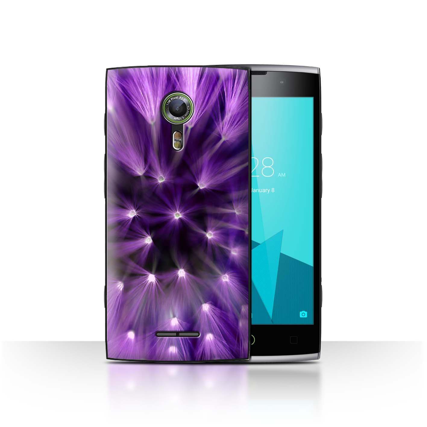 STUFF4-Back-Case-Cover-Skin-for-Alcatel-Flash-2-Floral-Flower-Lights