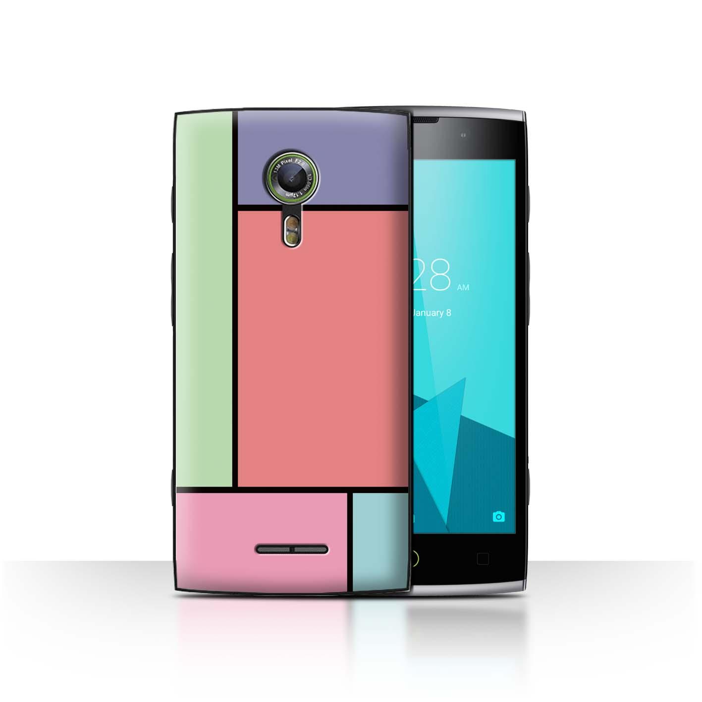 STUFF4-Back-Case-Cover-Skin-for-Alcatel-Flash-2-Pastel-Tiles