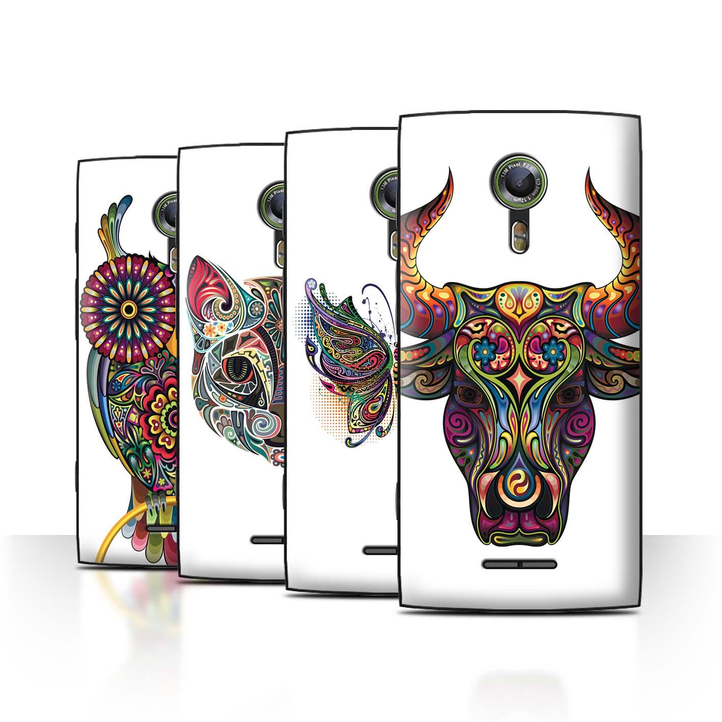 STUFF4-Back-Case-Cover-Skin-for-Alcatel-Flash-2-Ornamental-Animals