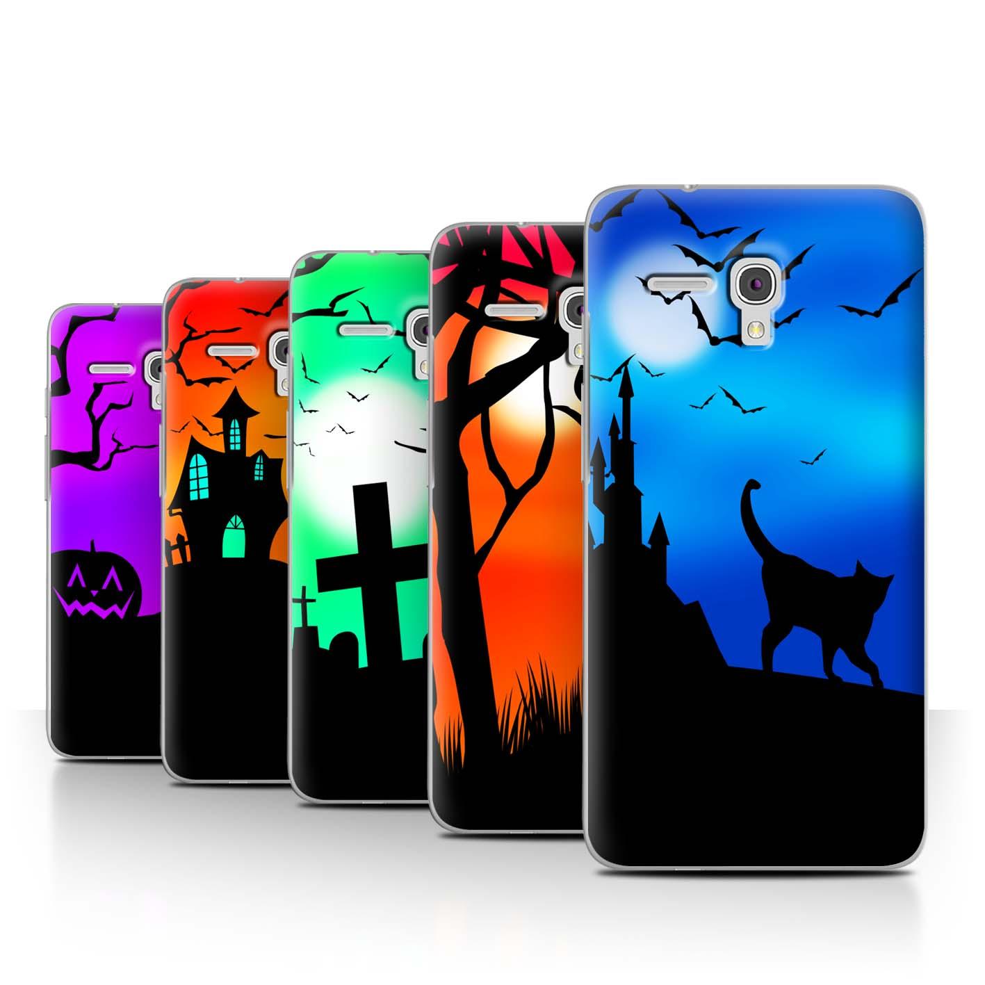 STUFF4-Back-Case-Cover-Skin-for-Alcatel-Fierce-XL-Halloween-Scene