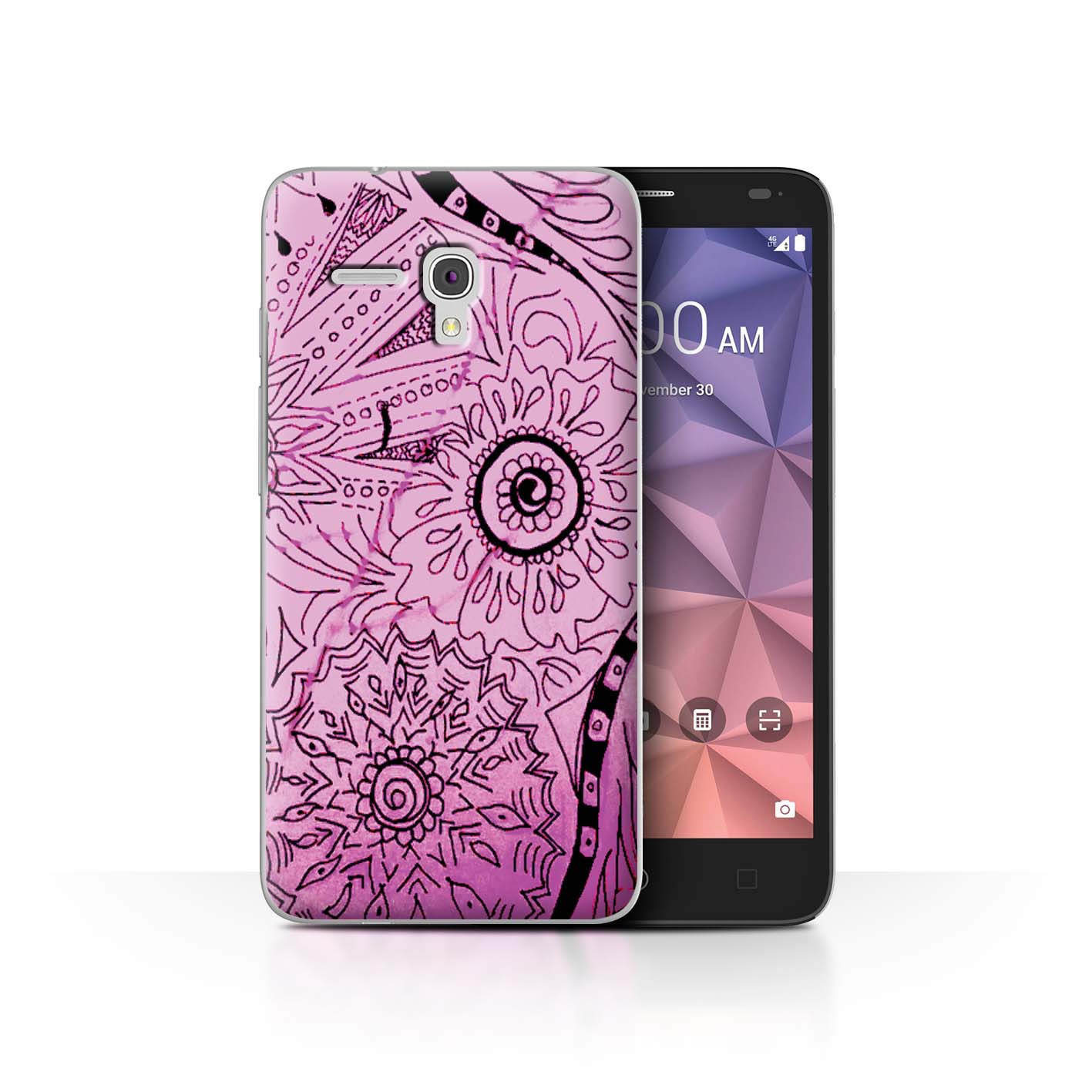 STUFF4-Back-Case-Cover-Skin-for-Alcatel-Fierce-XL-Henna-Paisley-Flower