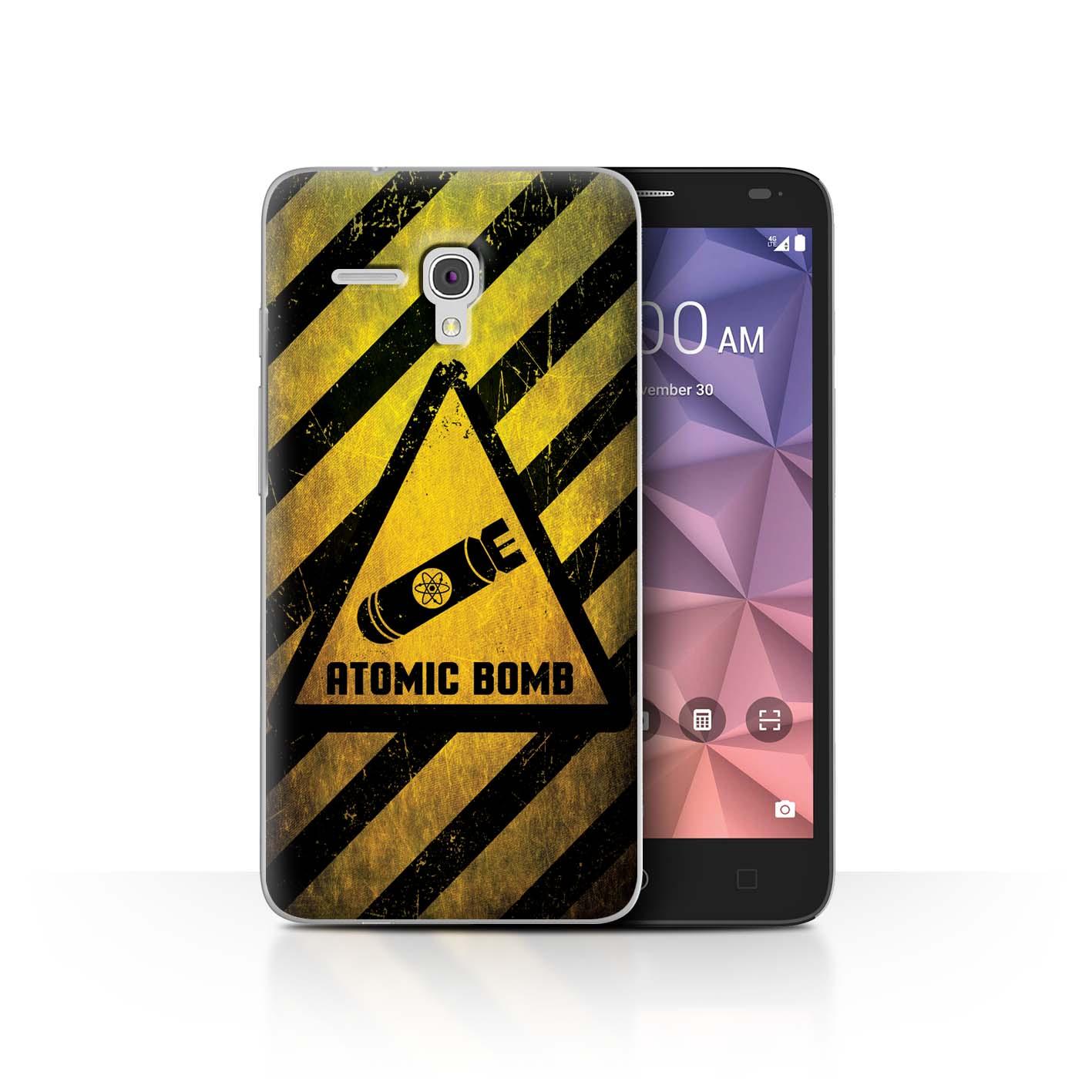 STUFF4-Back-Case-Cover-Skin-for-Alcatel-Fierce-XL-Hazard-Warning-Signs