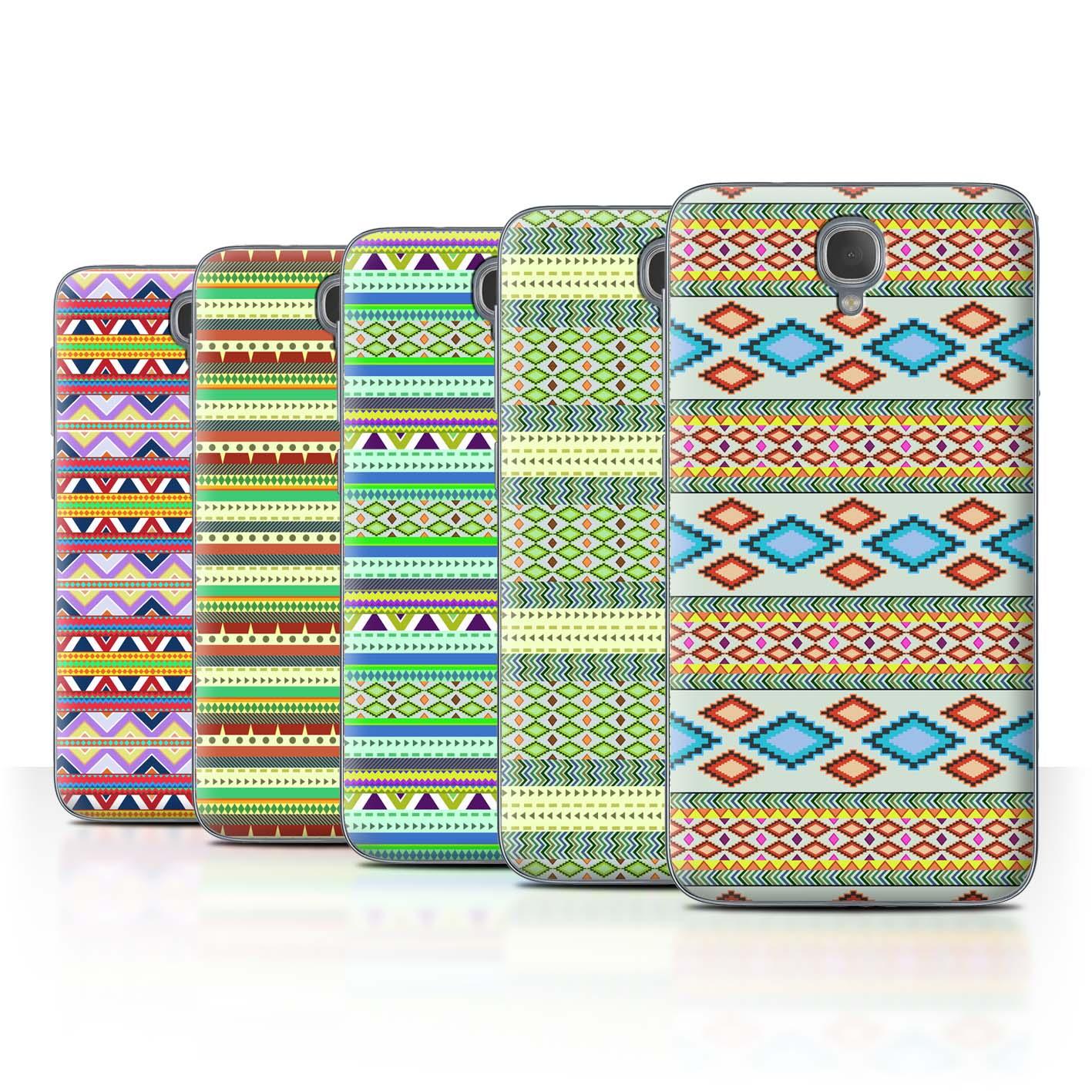 STUFF4-Back-Case-Cover-Skin-for-Alcatel-Idol-2-Aztec-Tribal-Pattern