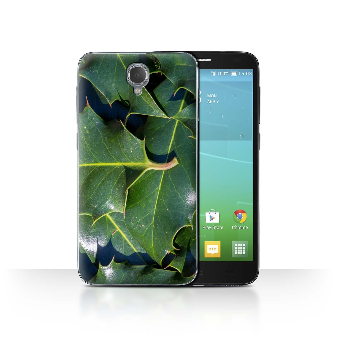 STUFF4-Back-Case-Cover-Skin-for-Alcatel-Idol-2-Plants-Leaves