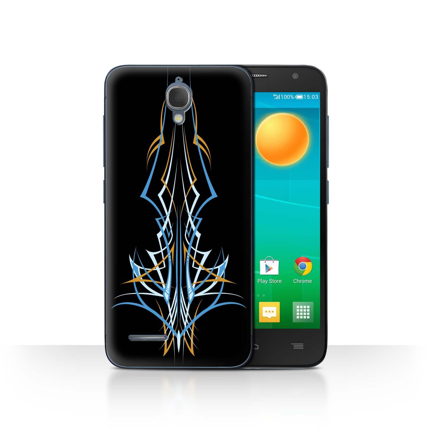 STUFF4-Back-Case-Cover-Skin-for-Alcatel-Idol-2-Mini-Tribal-Pinstripe