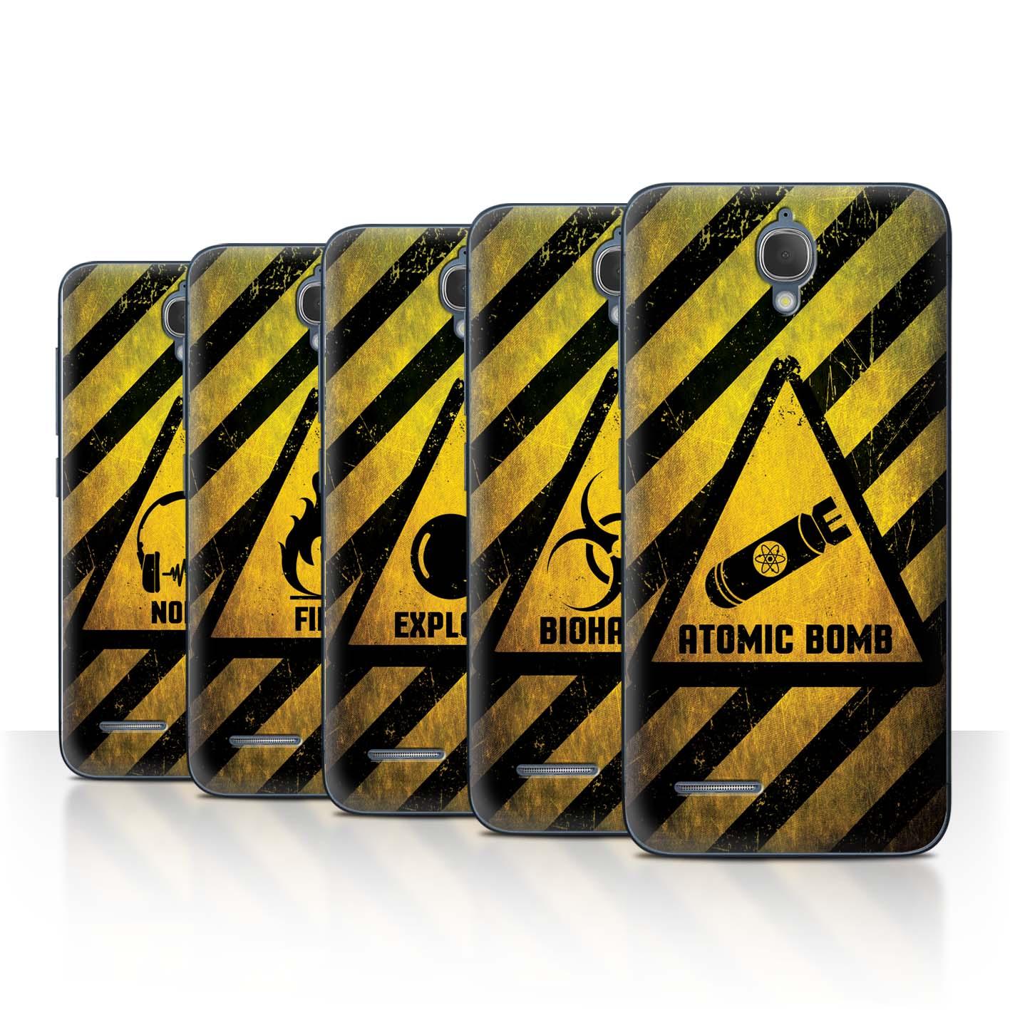 STUFF4-Back-Case-Cover-Skin-for-Alcatel-Idol-2-Mini-Hazard-Warning-Signs
