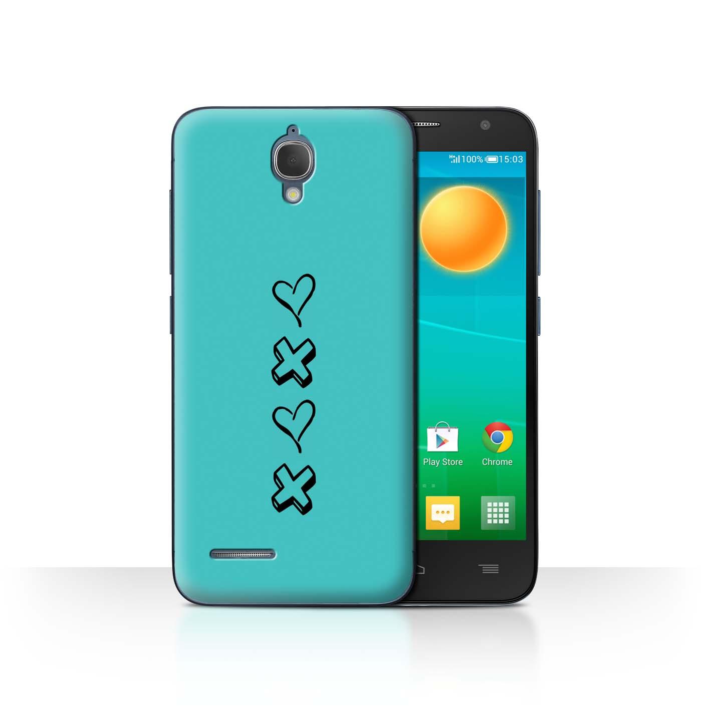 Stuff 4 teléfono caso/cubierta trasera para Alcatel Idol 2 Mini/Corazón Xoxo