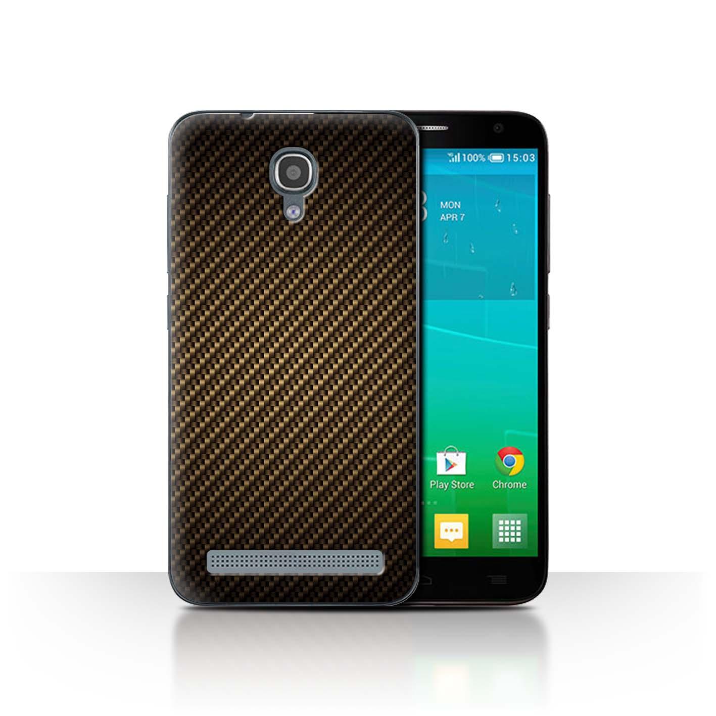 STUFF4-Back-Case-Cover-Skin-Alcatel-Idol-2-Mini-S-Carbon-Fibre-Effect-Pattern