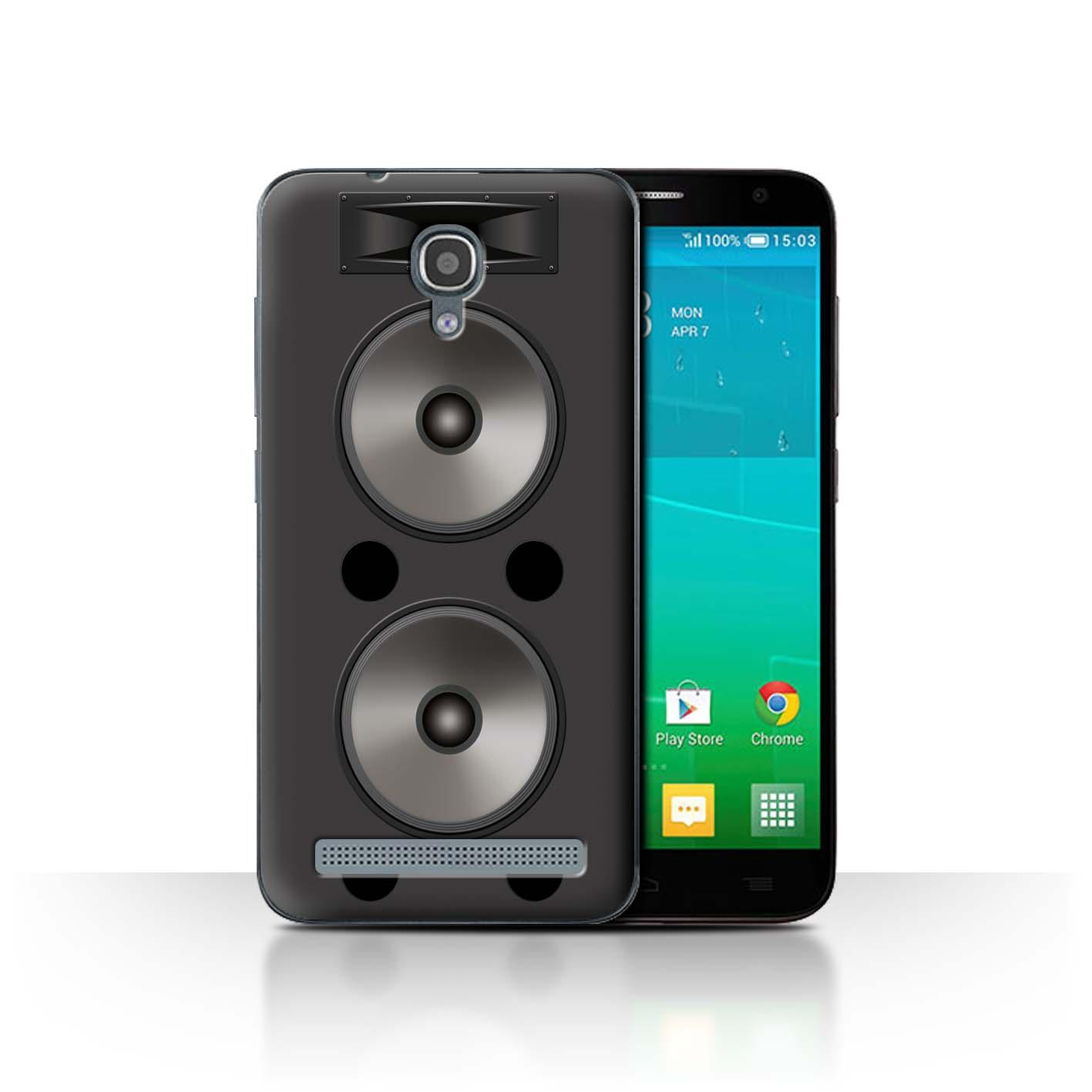 STUFF4-Back-Case-Cover-Skin-for-Alcatel-Idol-2-Mini-S-Speaker-Design