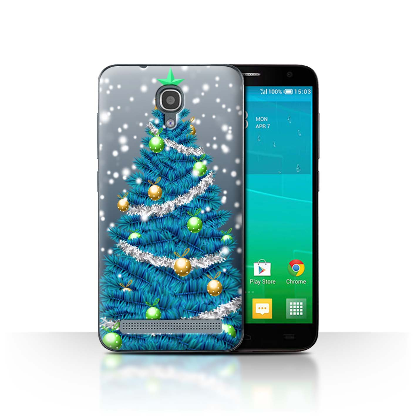 STUFF4-Back-Case-Cover-Skin-for-Alcatel-Idol-2-Mini-S-Christmas-Decorations