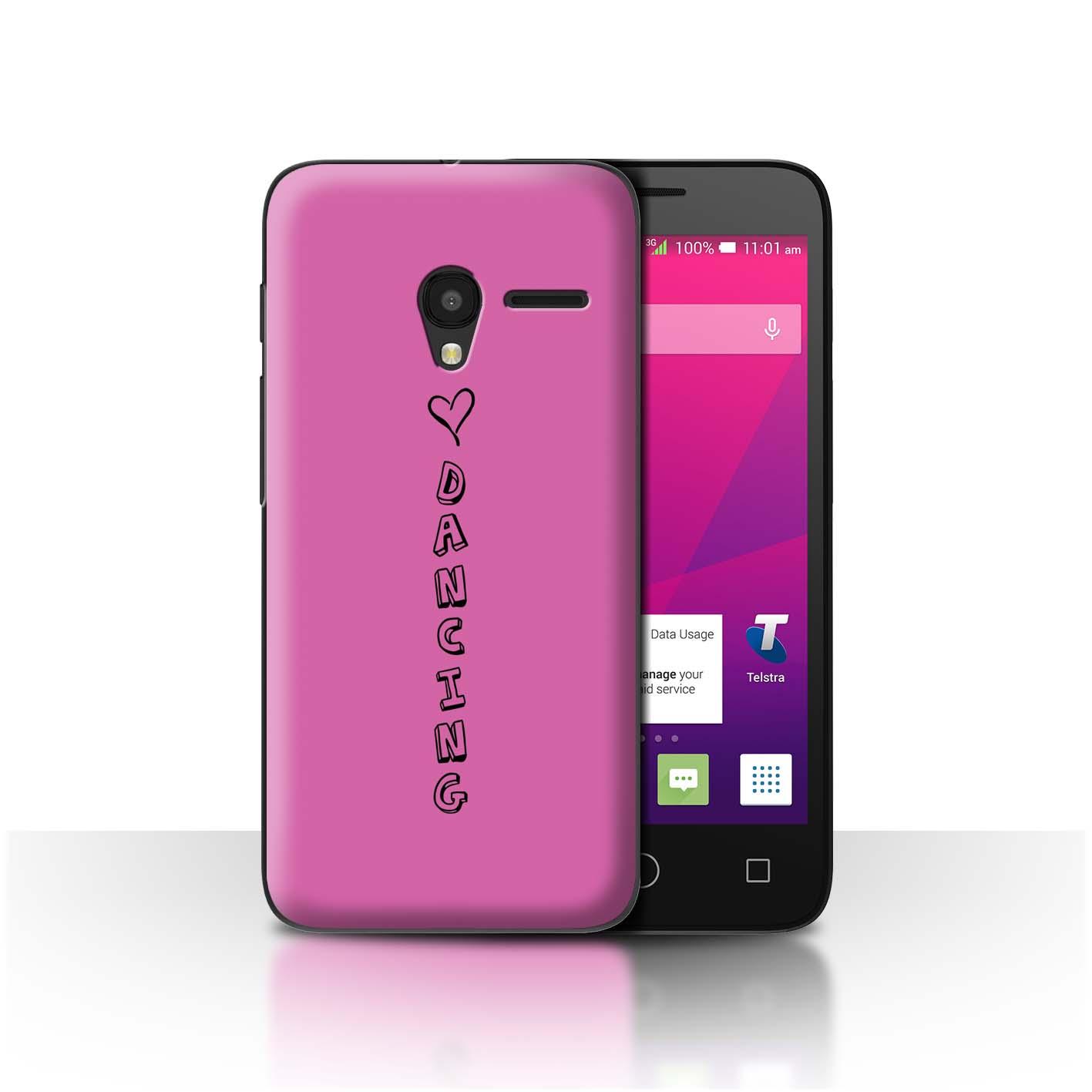 Stuff 4 teléfono caso/cubierta trasera para Alcatel OneTouch Pixi 3 5/Corazón Xoxo
