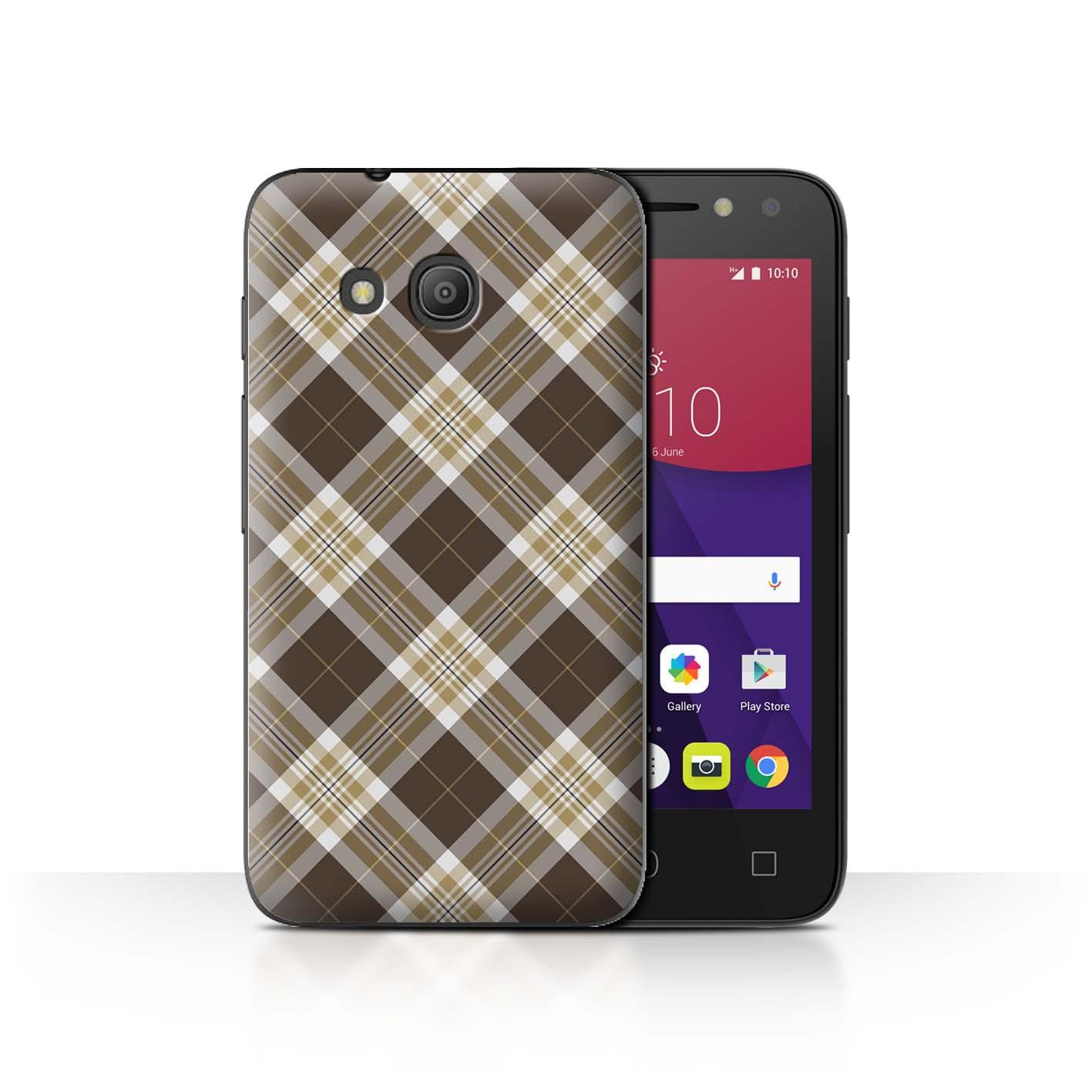 STUFF4-Back-Case-Cover-Skin-for-Alcatel-Pixi-4-4-034-Tartan-Picnic-Pattern