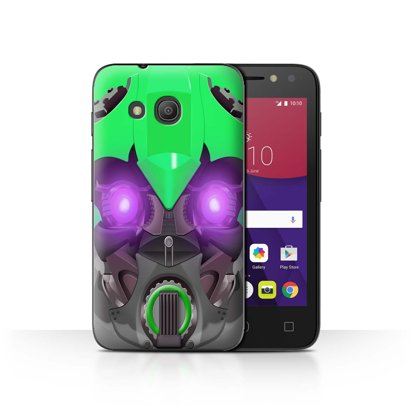 STUFF4-Back-Case-Cover-Skin-for-Alcatel-Pixi-4-4-034-Robots