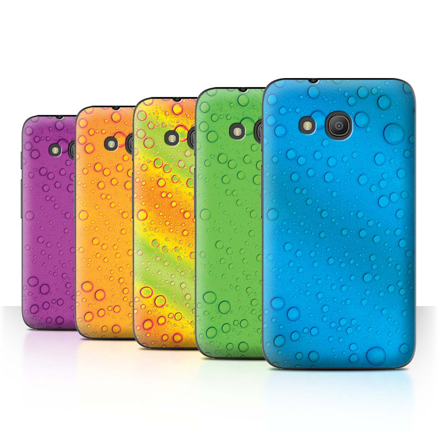 STUFF4-Back-Case-Cover-Skin-for-Alcatel-Pixi-4-4-034-Water-Droplets