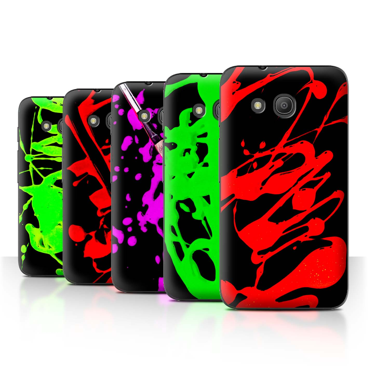 STUFF4-Back-Case-Cover-Skin-for-Alcatel-Pixi-4-4-034-Paint-Splatter