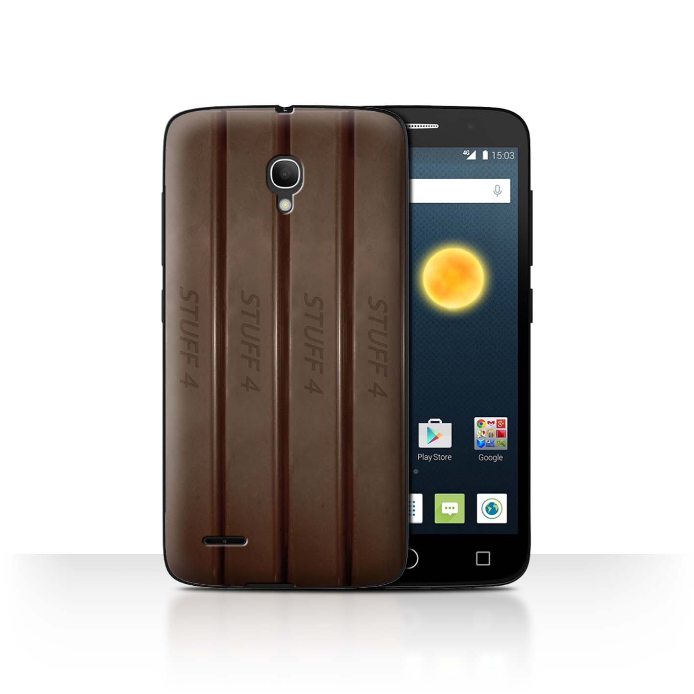 STUFF4-Back-Case-Cover-Skin-for-Alcatel-Pop-2-5-034-Chocolate