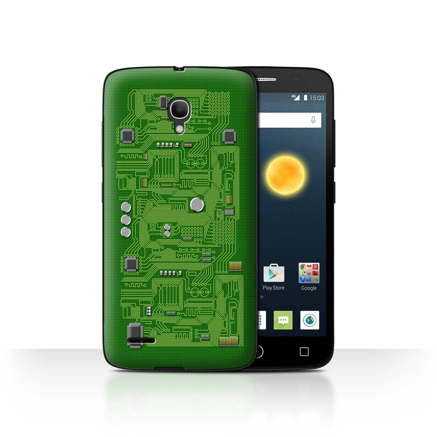 STUFF4-Back-Case-Cover-Skin-for-Alcatel-Pop-2-5-034-Circuit-Board