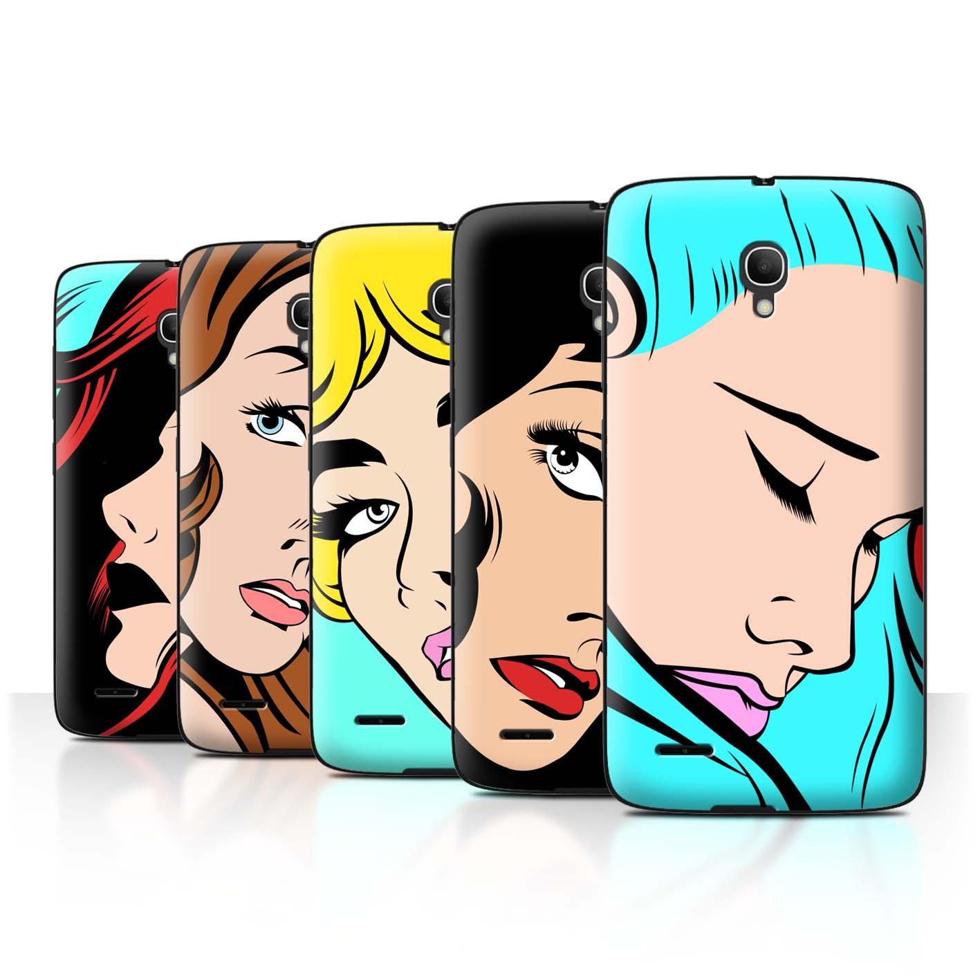 STUFF4-Back-Case-Cover-Skin-for-Alcatel-Pop-2-5-034-Comic-Illustrated-Girls