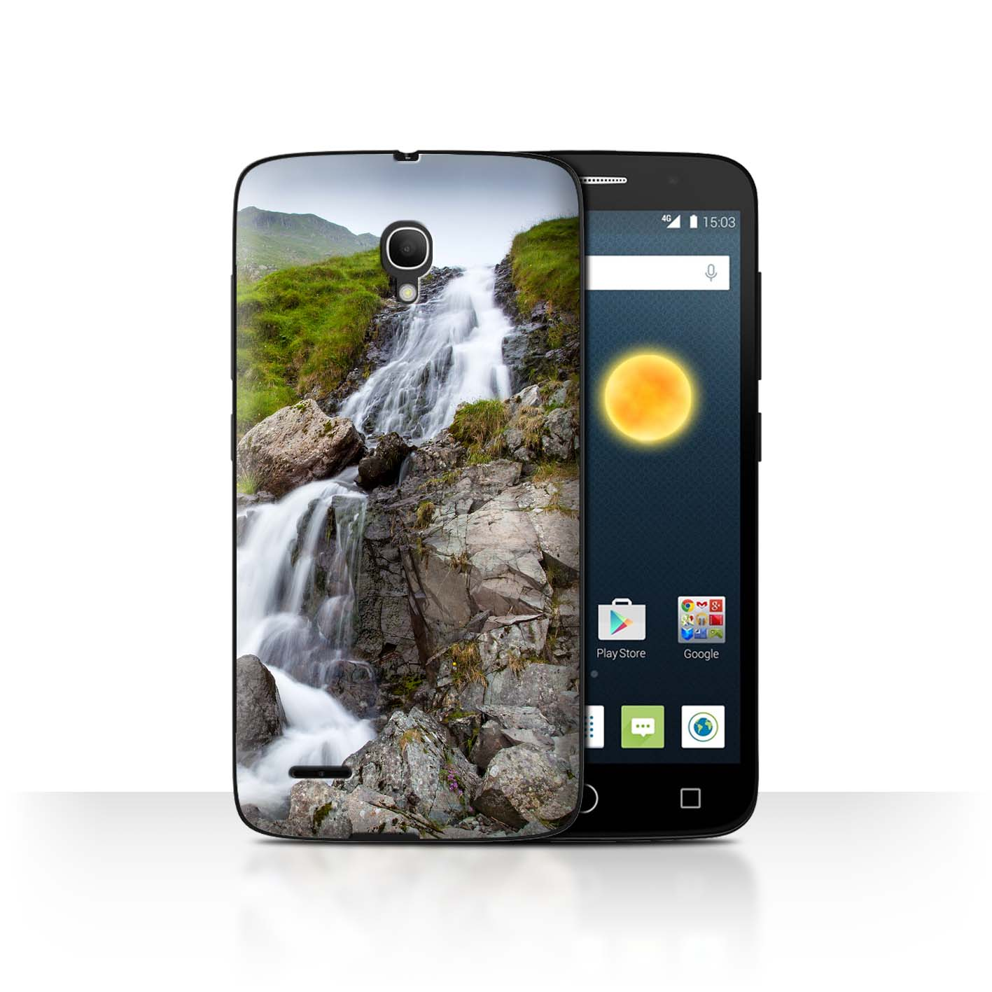 STUFF4-Back-Case-Cover-Skin-for-Alcatel-Pop-2-5-034-Waterfalls
