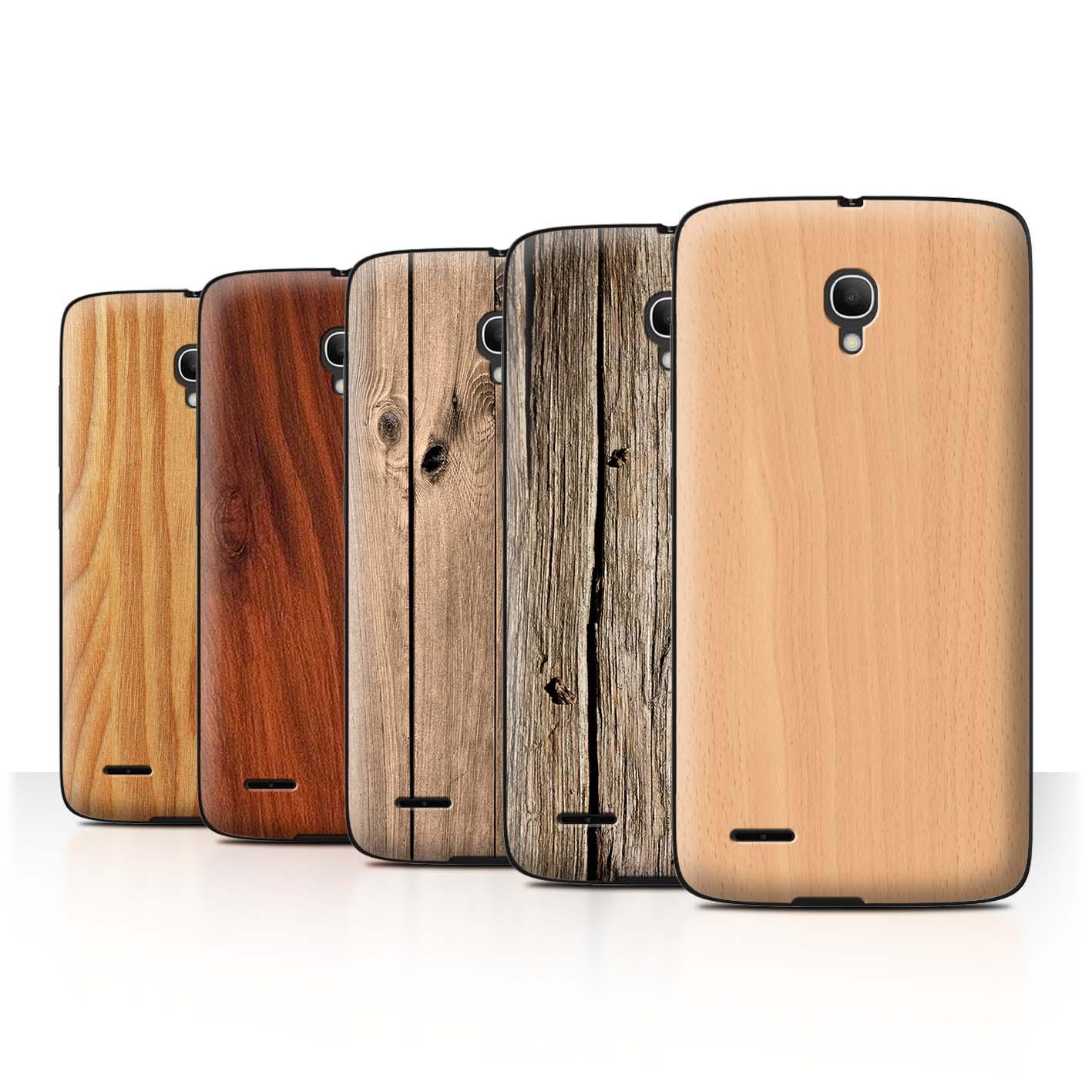 STUFF4-Back-Case-Cover-Skin-for-Alcatel-Pop-2-5-034-Wood-Grain-Effect-Pattern