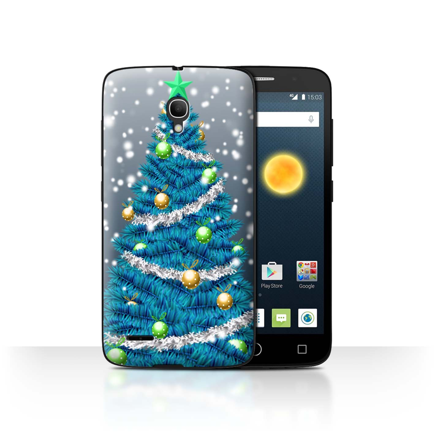 STUFF4-Back-Case-Cover-Skin-for-Alcatel-Pop-2-5-034-Christmas-Decorations