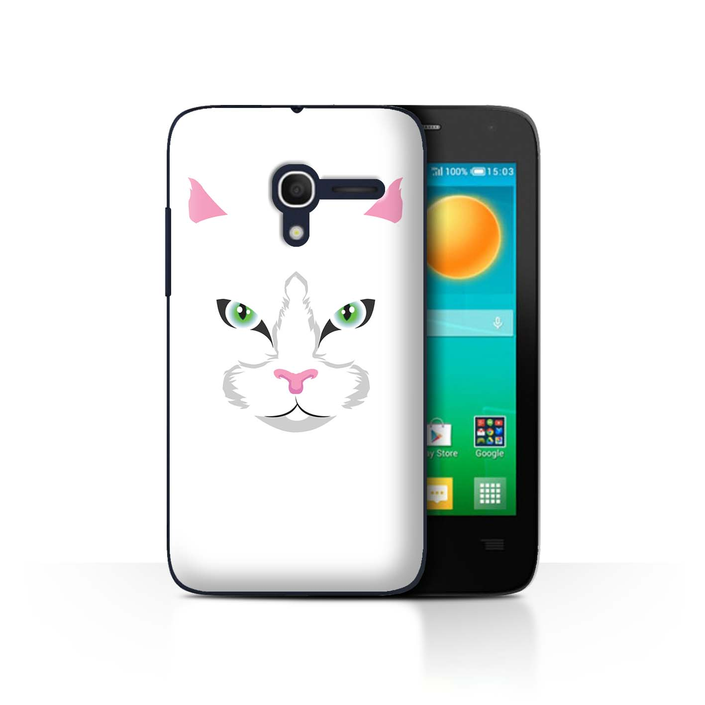 STUFF4-Back-Case-Cover-Skin-for-Alcatel-Pop-D3-Animal-Faces