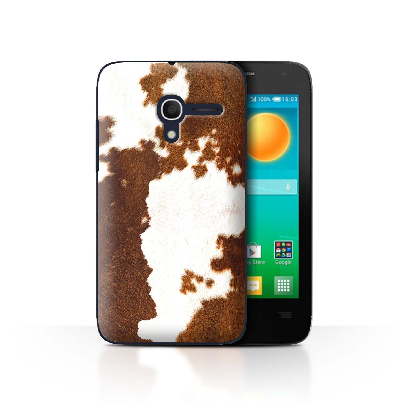 STUFF4-Back-Case-Cover-Skin-for-Alcatel-Pop-D3-Animal-Fur-Effect-Pattern