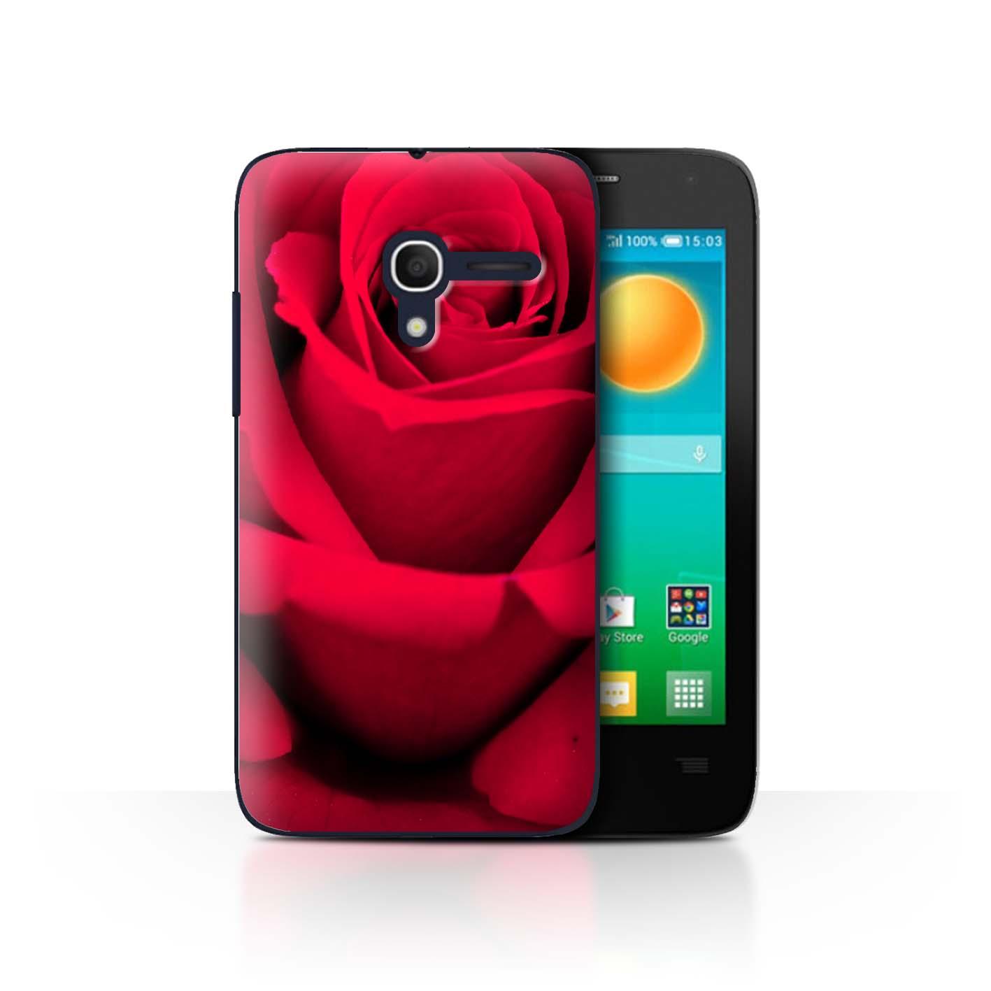 STUFF4-Back-Case-Cover-Skin-for-Alcatel-Pop-D3-Floral-Garden-Flowers