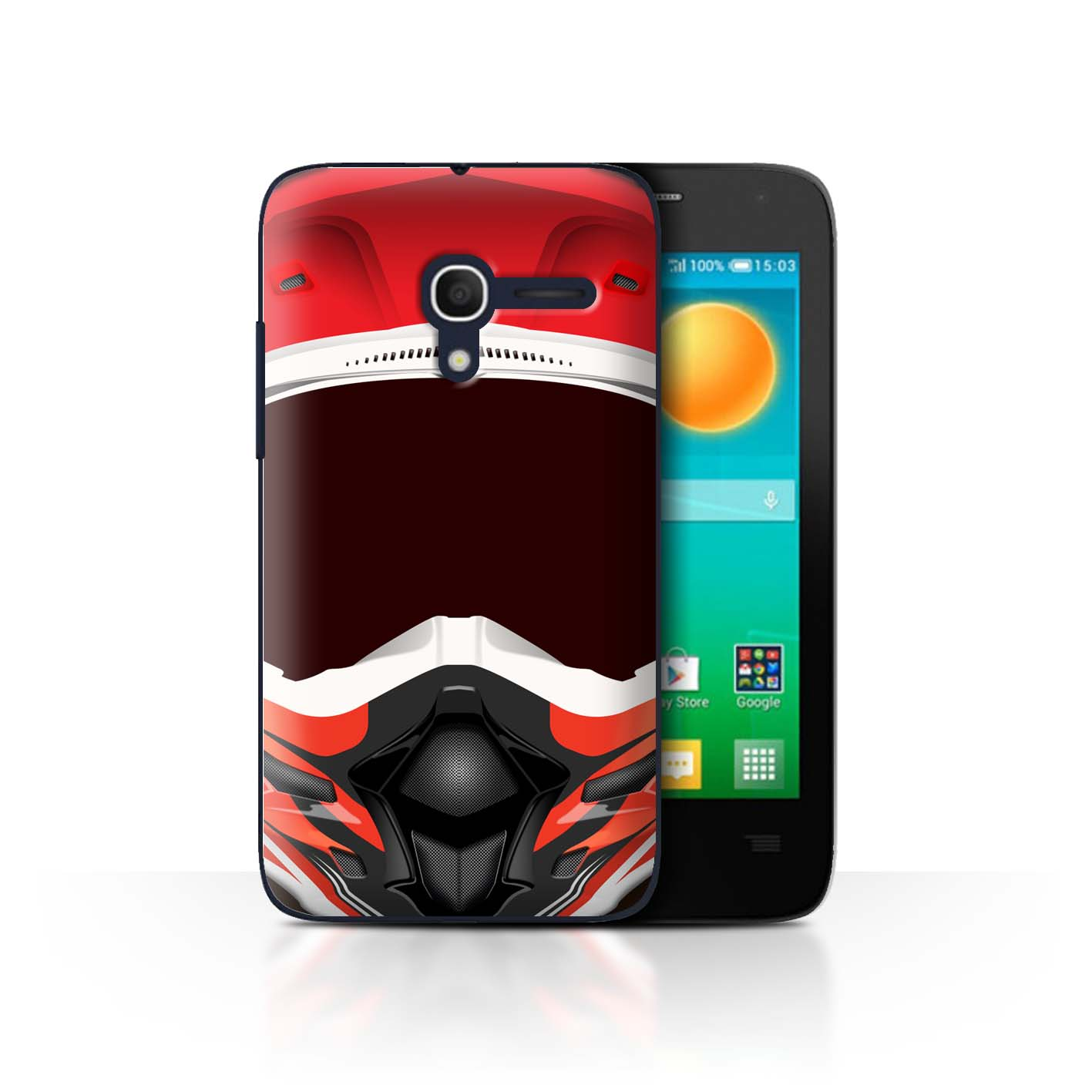 STUFF4-Back-Case-Cover-Skin-for-Alcatel-Pop-D3-Motorcycle-Helmet