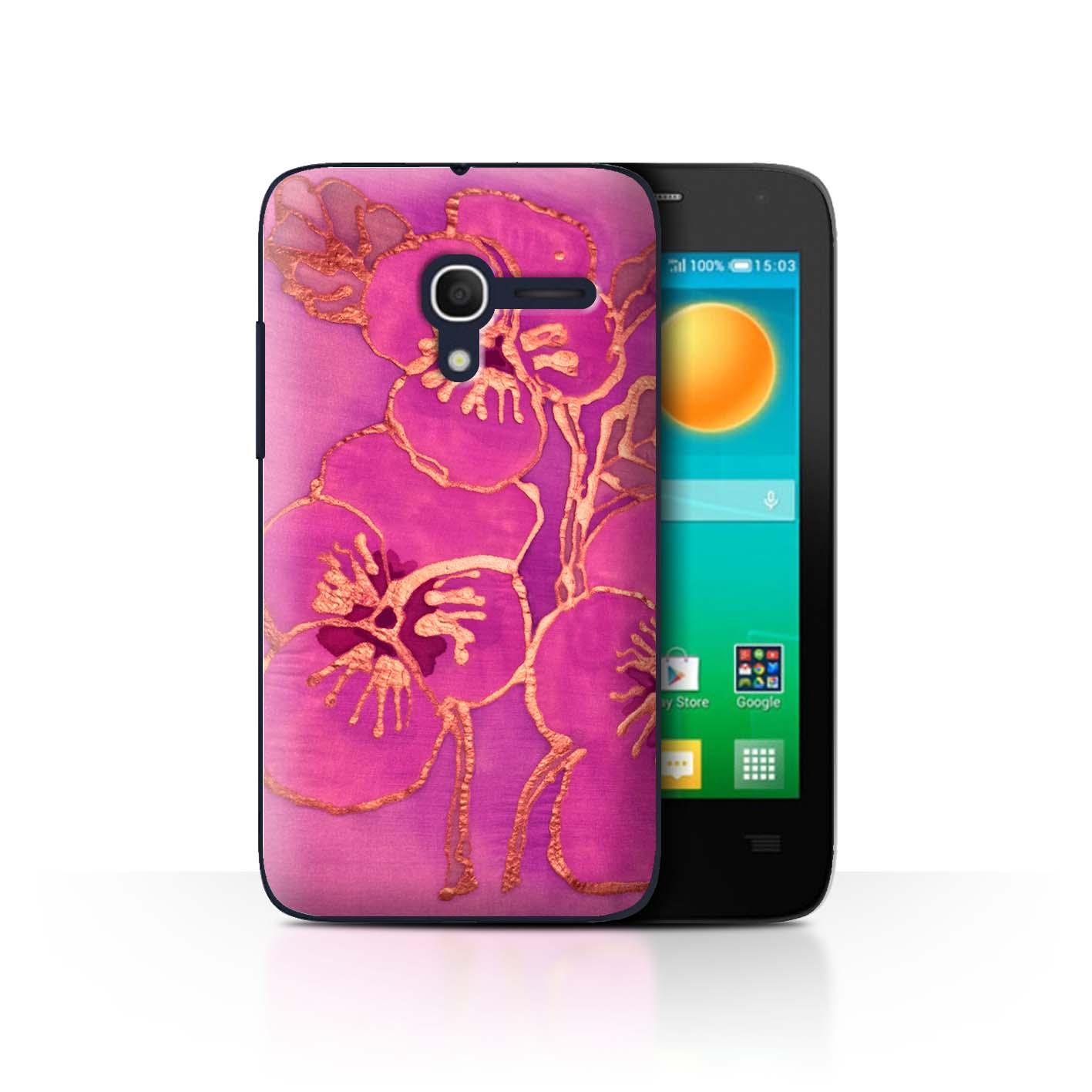 STUFF4-Back-Case-Cover-Skin-for-Alcatel-Pop-D3-Floral-Silk-Effect