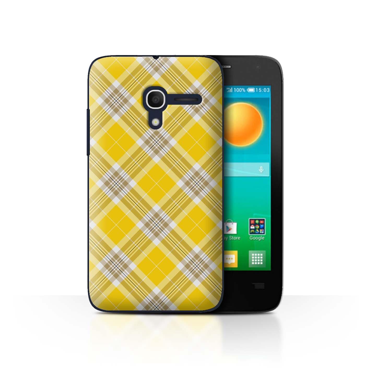 STUFF4-Back-Case-Cover-Skin-for-Alcatel-Pop-D3-Tartan-Picnic-Pattern