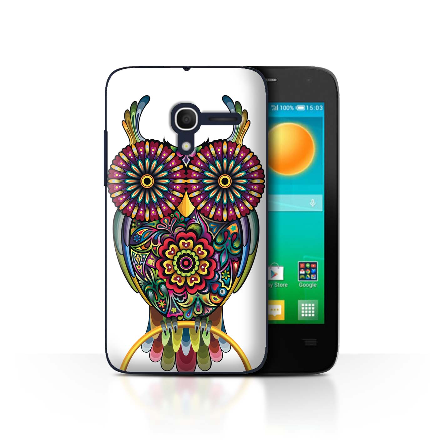 STUFF4-Back-Case-Cover-Skin-for-Alcatel-Pop-D3-Ornamental-Animals