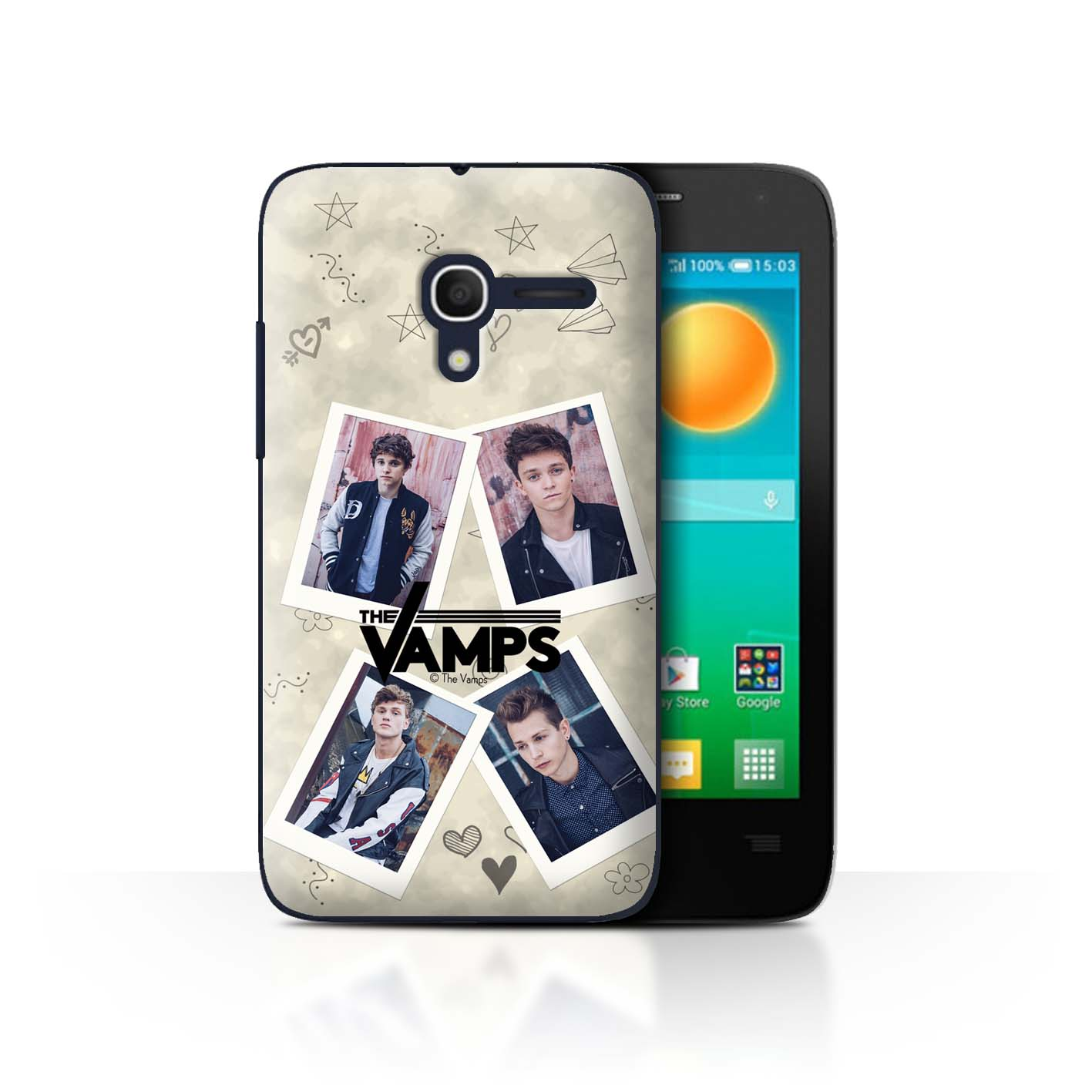 Official-The-Vamps-Case-Cover-for-Alcatel-Pop-D3-The-Vamps-Doodle-Book