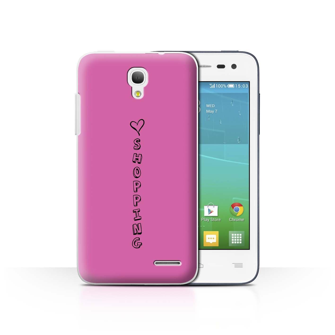 Stuff 4 teléfono caso/cubierta trasera para Alcatel OneTouch Pop S3/Corazón Xoxo