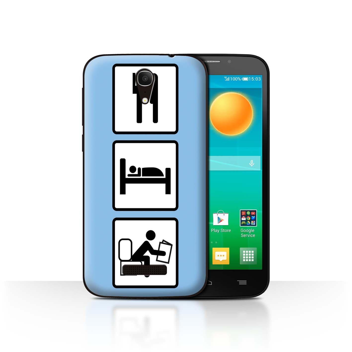 STUFF4-Back-Case-Cover-Skin-for-Alcatel-Pop-S7-Eat-Sleep