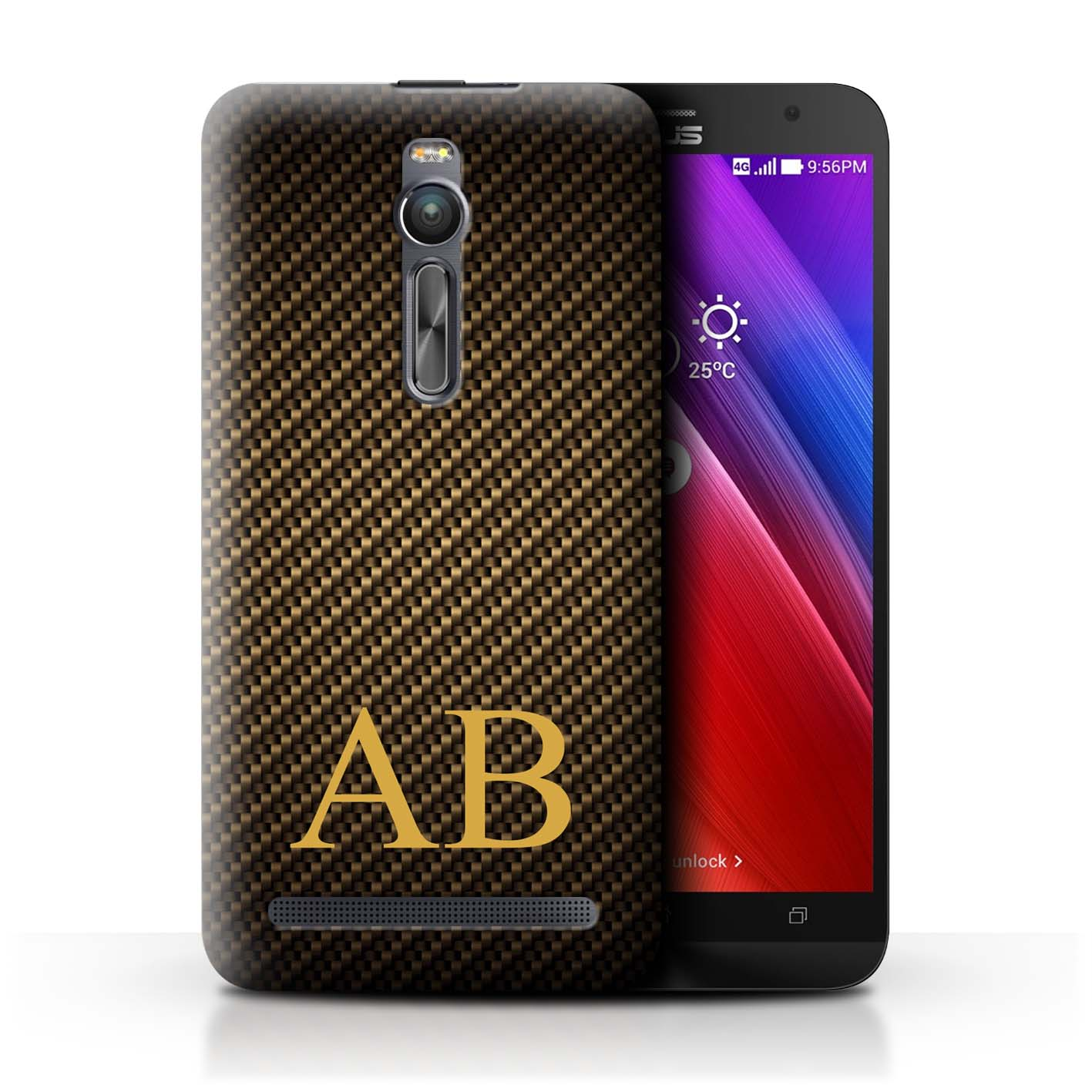 Personalised-Carbon-Fibre-Effect-Phone-Case-Cover-for-ASUS-Smartphone-Initial