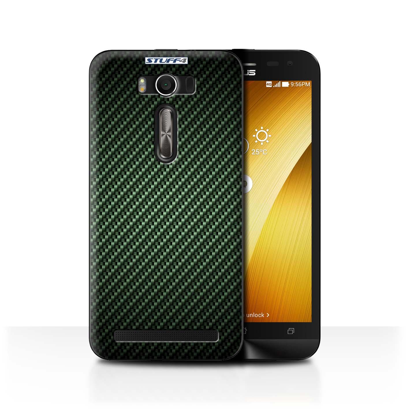 STUFF4-Case-Cover-for-Asus-Zenfone-2-Laser-ZE500KL-Carbon-Fibre-Effect-Pattern