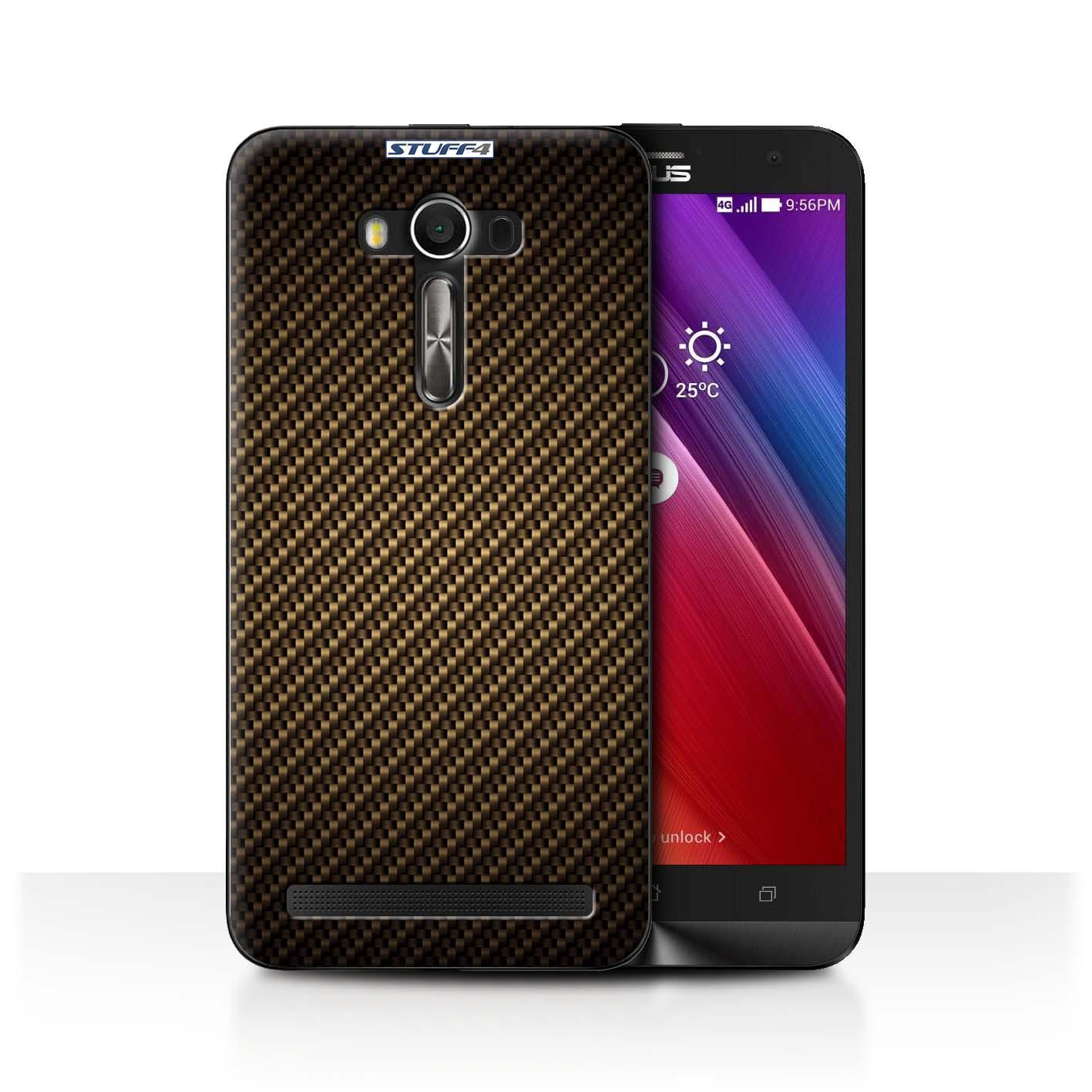 STUFF4-Case-Cover-for-Asus-Zenfone-2-Laser-ZE550KL-Carbon-Fibre-Effect-Pattern