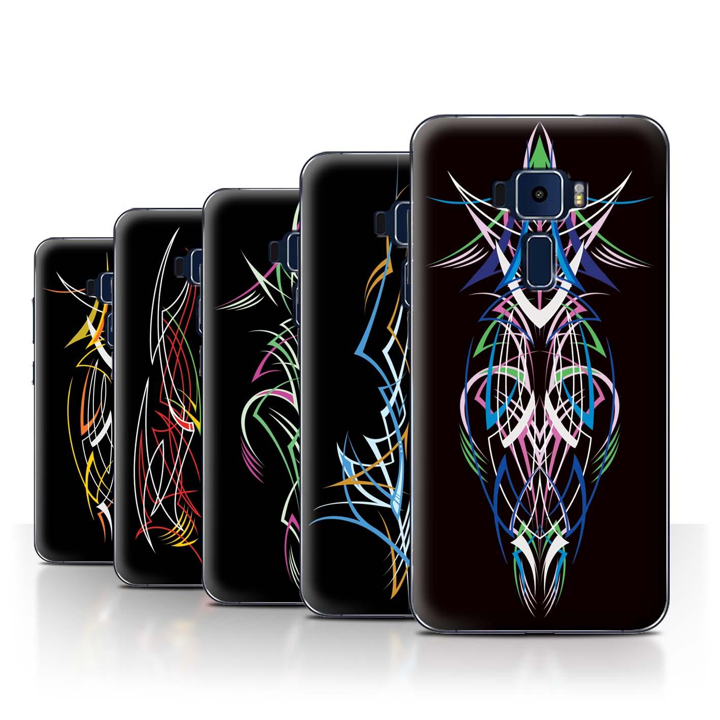 STUFF4-Back-Case-Cover-Skin-for-Asus-Zenfone-3-ZE552KL-Tribal-Pinstripe