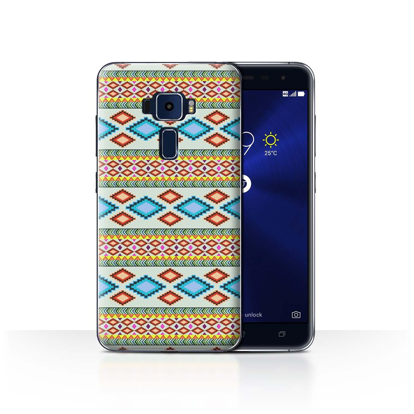 STUFF4-Back-Case-Cover-Skin-for-Asus-Zenfone-3-ZE552KL-Aztec-Tribal-Pattern