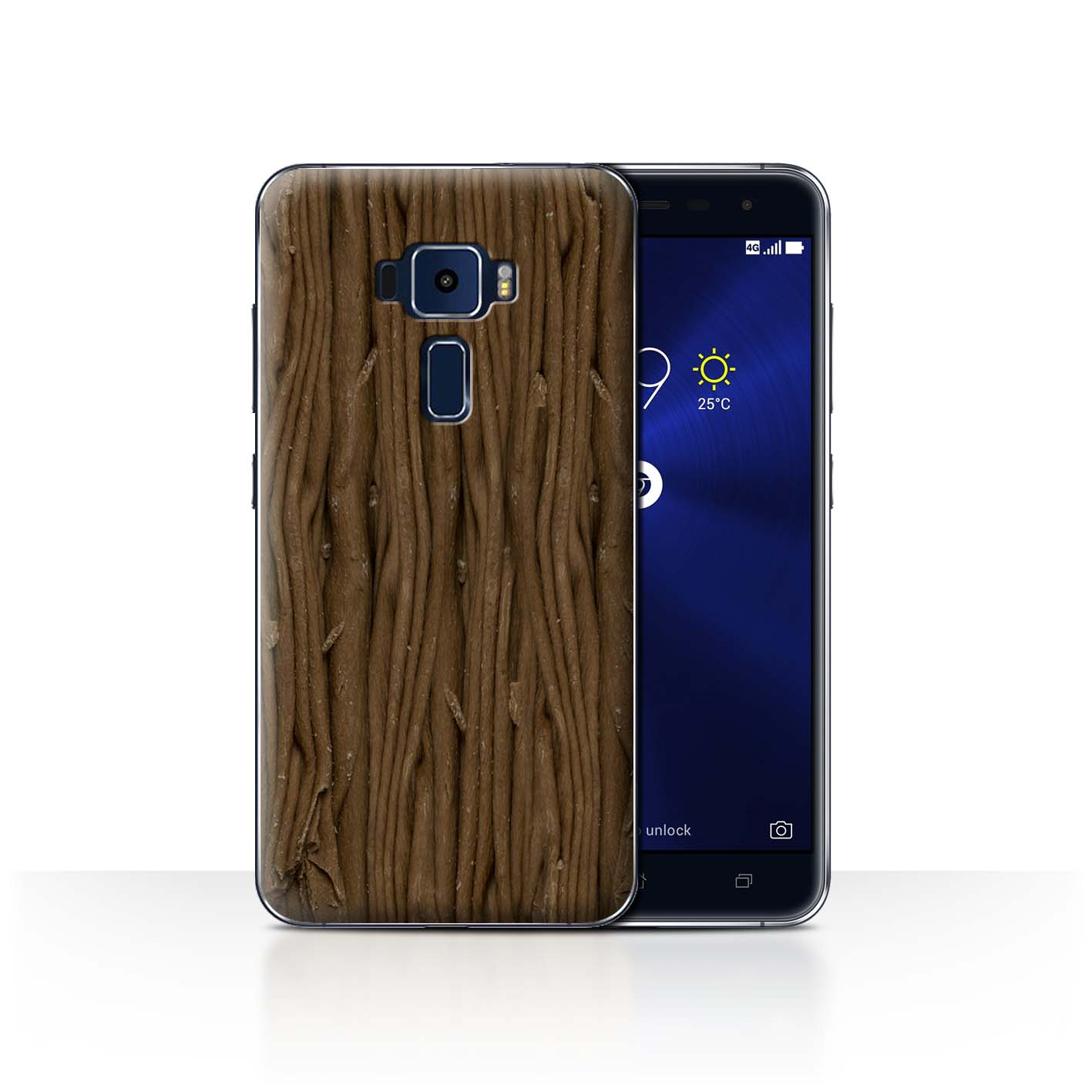 STUFF4-Back-Case-Cover-Skin-for-Asus-Zenfone-3-ZE552KL-Chocolate