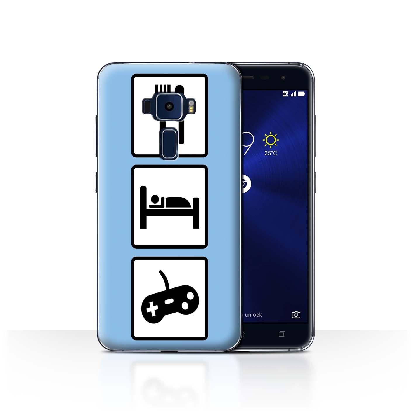 STUFF4-Back-Case-Cover-Skin-for-Asus-Zenfone-3-ZE552KL-Eat-Sleep