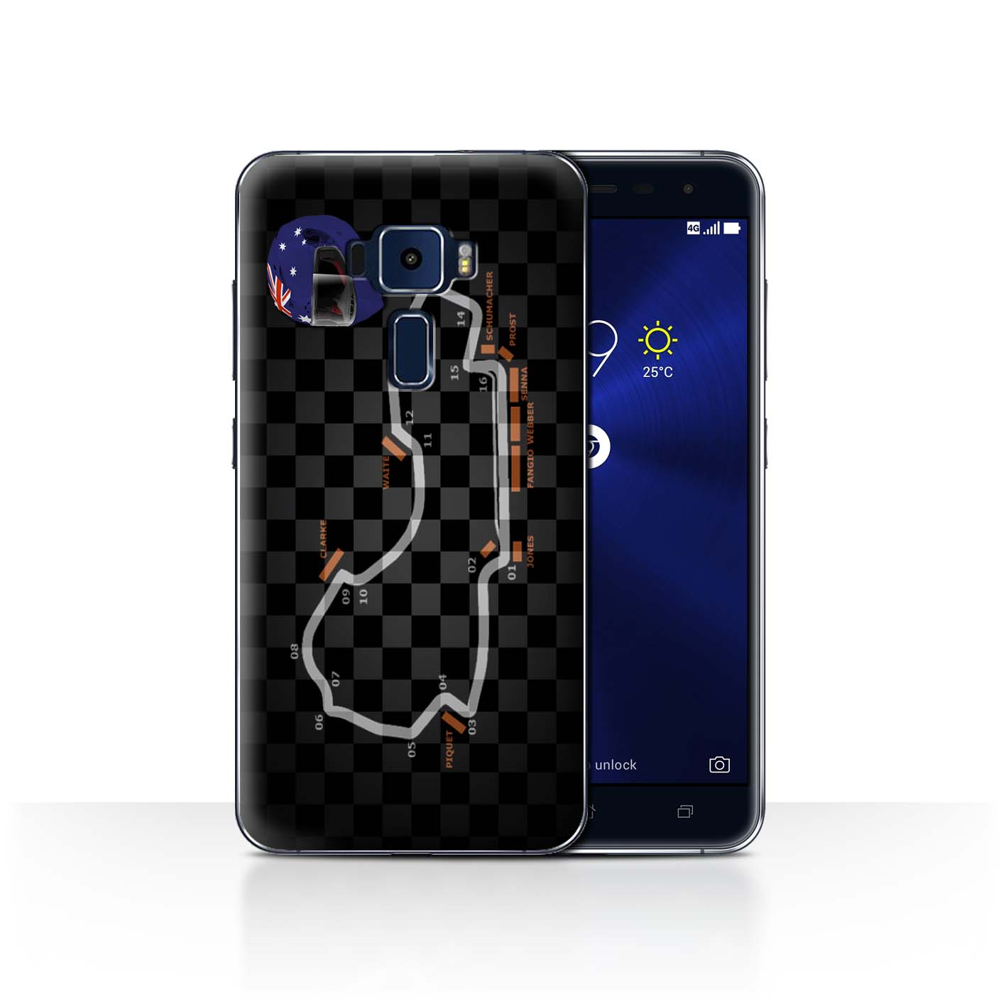 STUFF4-Back-Case-Cover-Skin-for-Asus-Zenfone-3-ZE552KL-2014-F1-Track
