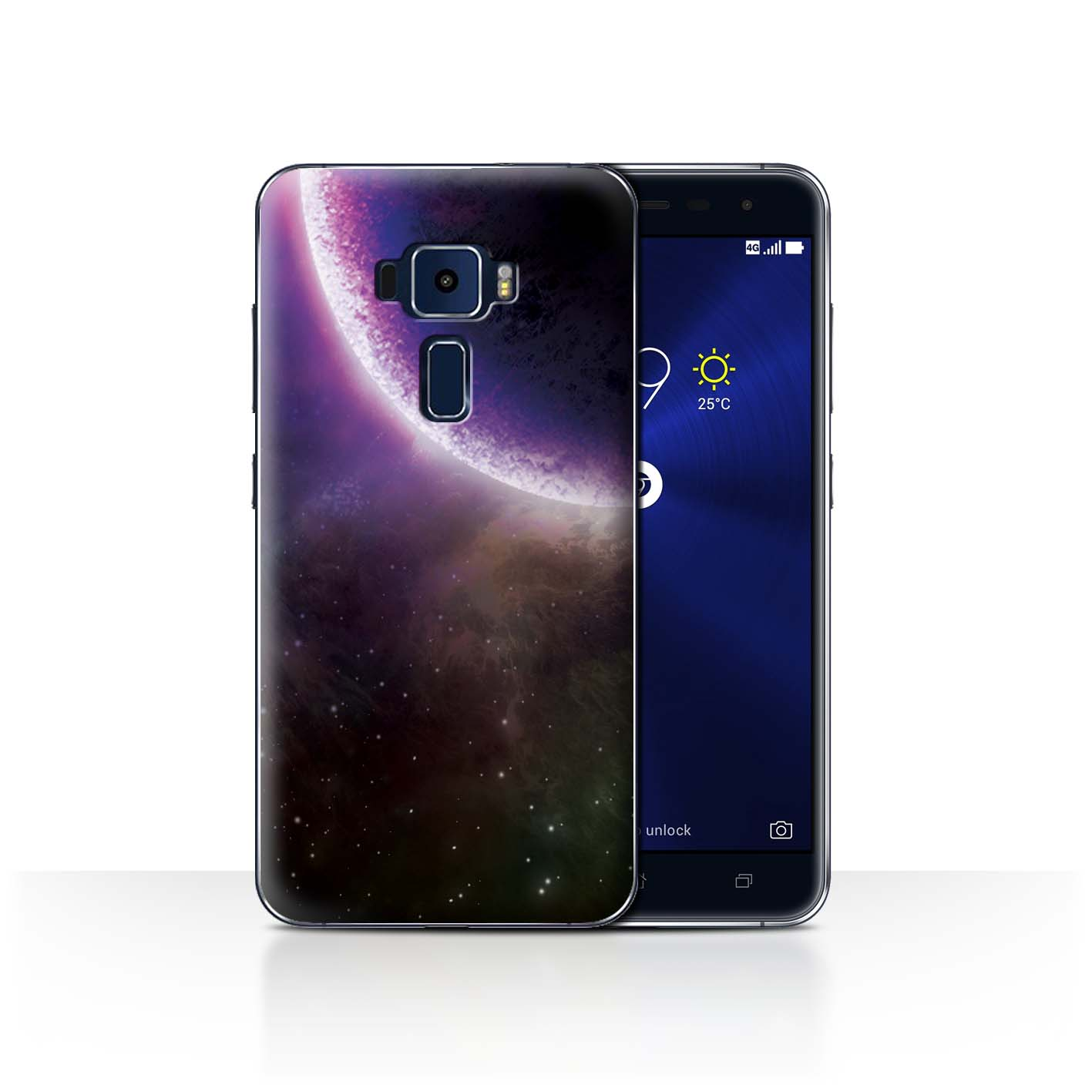 STUFF4-Back-Case-Cover-Skin-for-Asus-Zenfone-3-ZE552KL-Space-Cosmos