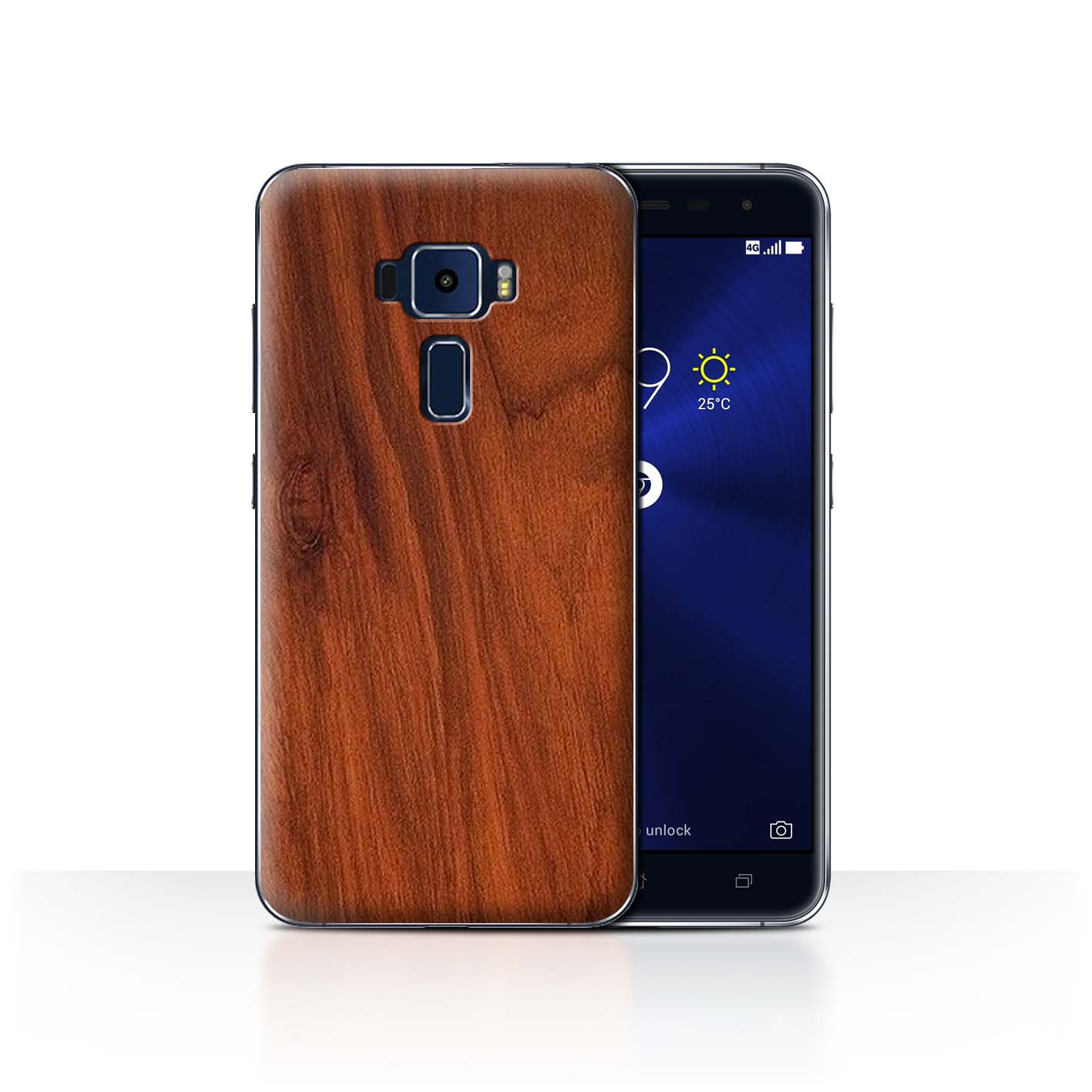 STUFF4-Back-Case-Cover-Skin-for-Asus-Zenfone-3-ZE552KL-Wood-Grain-Effect-Pattern