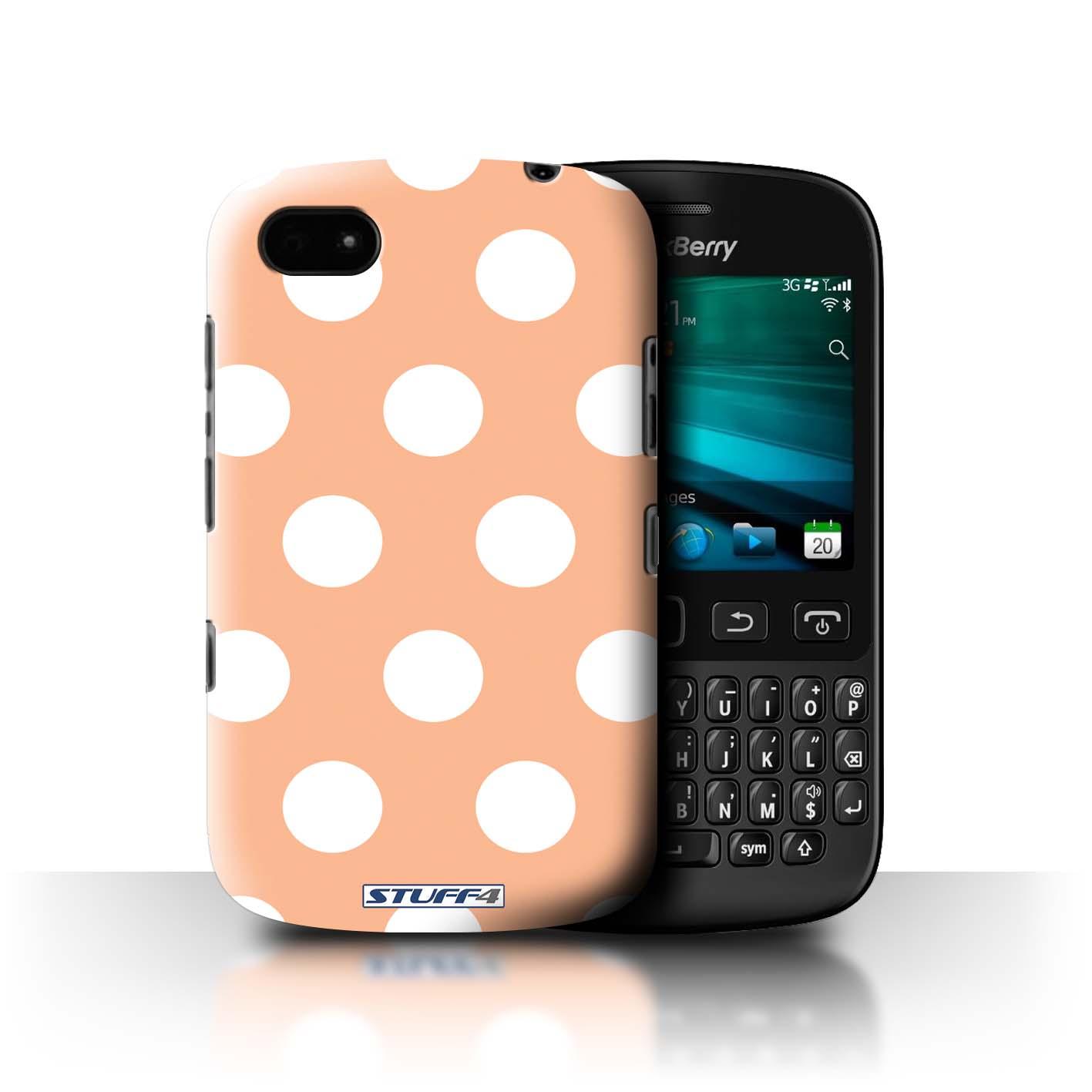 STUFF4-Coque-Etui-pour-Blackberry-Smartphone-Motif-a-Pois-Protection-Housse